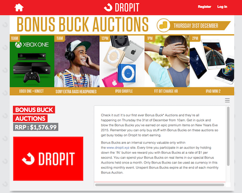 Dropit the radical auction site where prices go down instead of up