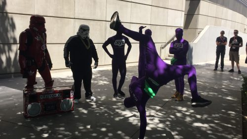 image of purple people