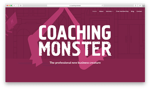 coaching.monster homepage