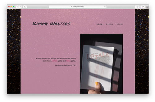 Screenshot of KimmyWalters.xyz homepage