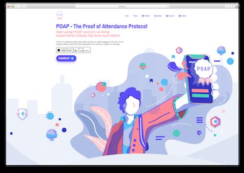 POAP.xyz homepage