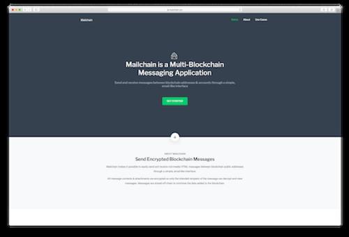 Mailchain.xyz homepage