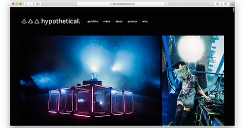 WeAreHypothetical.xyz homepage