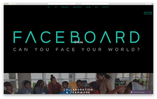 Faceboard.xyz Homepage