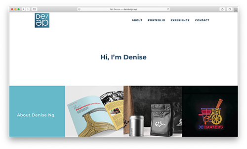 denidesign.xyz homepage